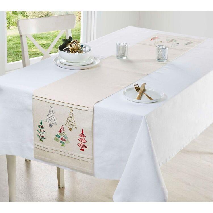 Living Space Festive Grace Pleat Table Runner