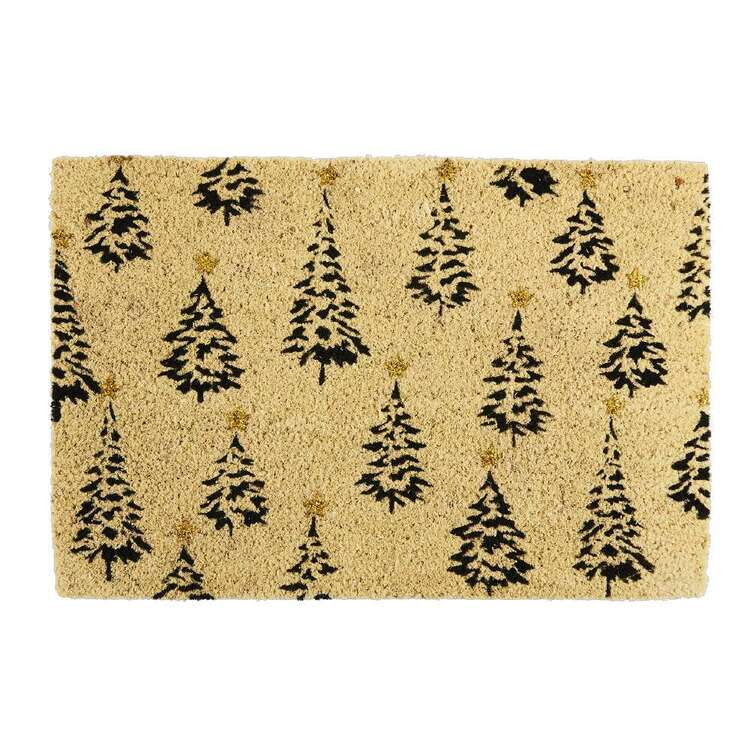 Living Space Festive Glitter Coir PVC Door Mat