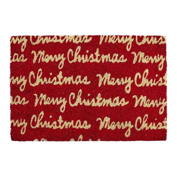 Living Space Festive Merry Coir PVC Door Mat