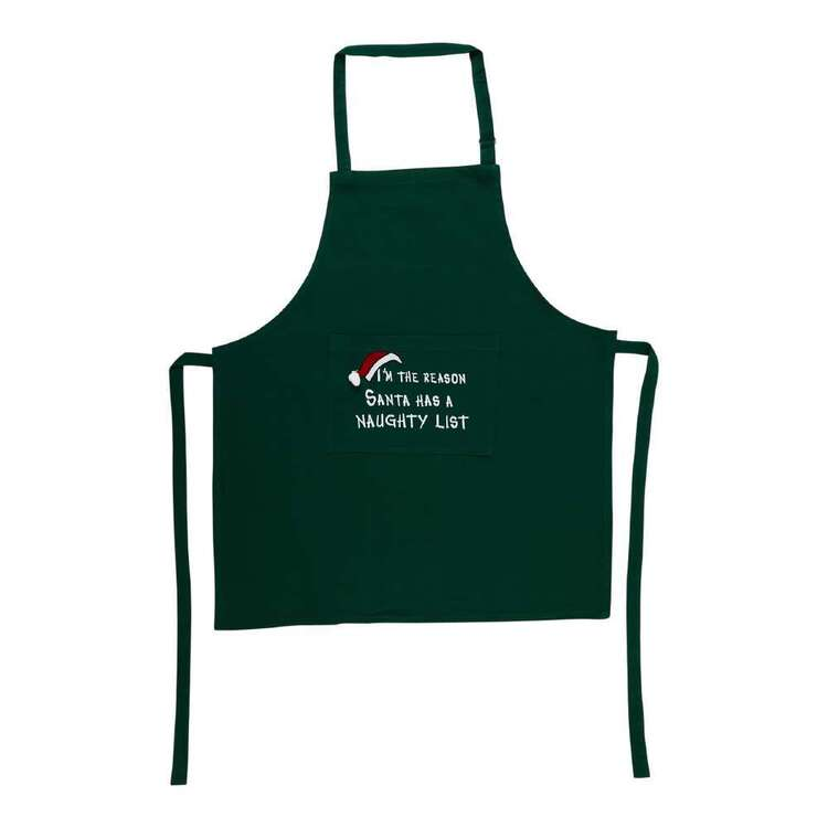 Living Space Festive Santa List Printed Apron