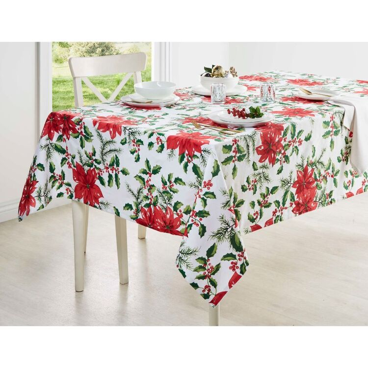 Living Space Festive Floralis Printed Tablecloth