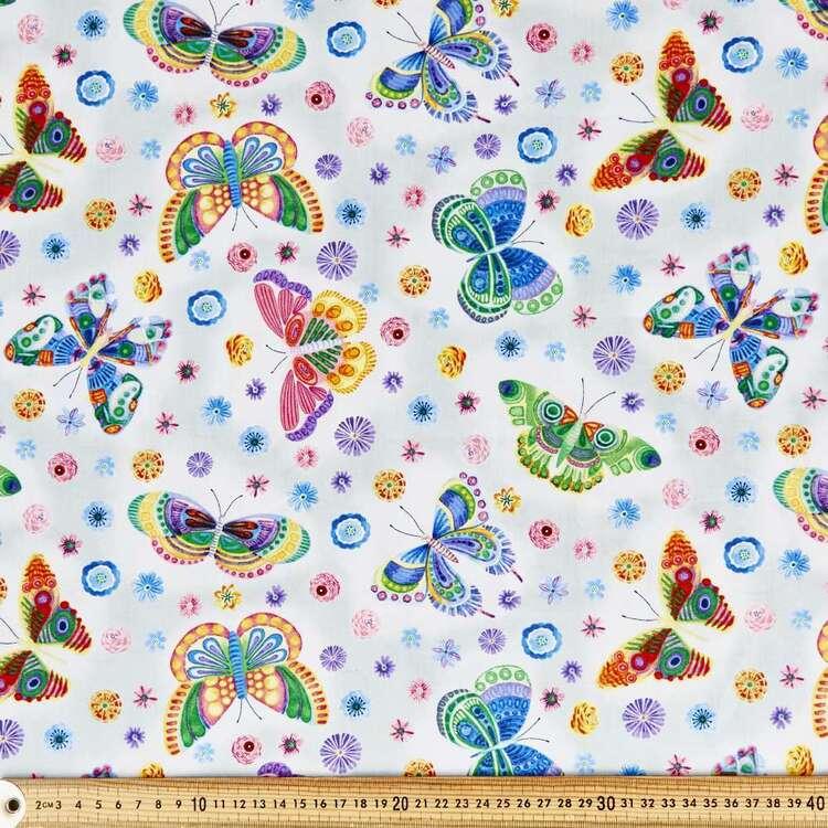 Wonderland Large Butterflies Cotton Fabric