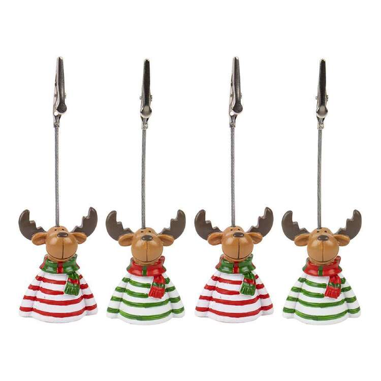 Christmas By Ladelle Reindeer 4 Pack Table Weight