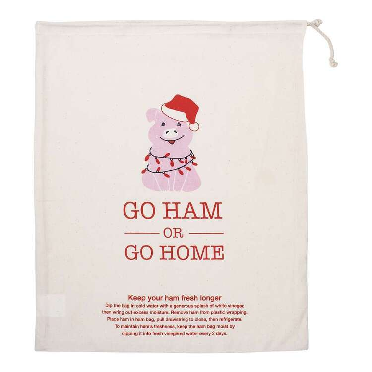 Christmas By Ladelle Go Ham Ham Bag