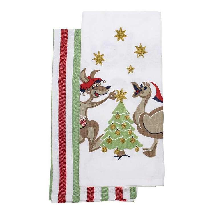 Christmas By Ladelle Dinkum Tea Towel 2 Pack
