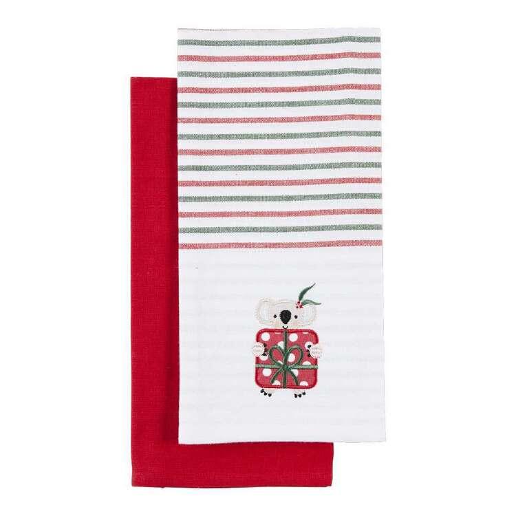Christmas By Ladelle Koala Tea Towel 2 Pack