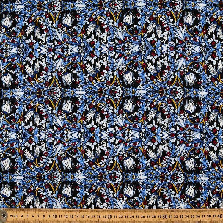 Persian Tulip Printed 148 cm Rayon Spandex Knit Fabric