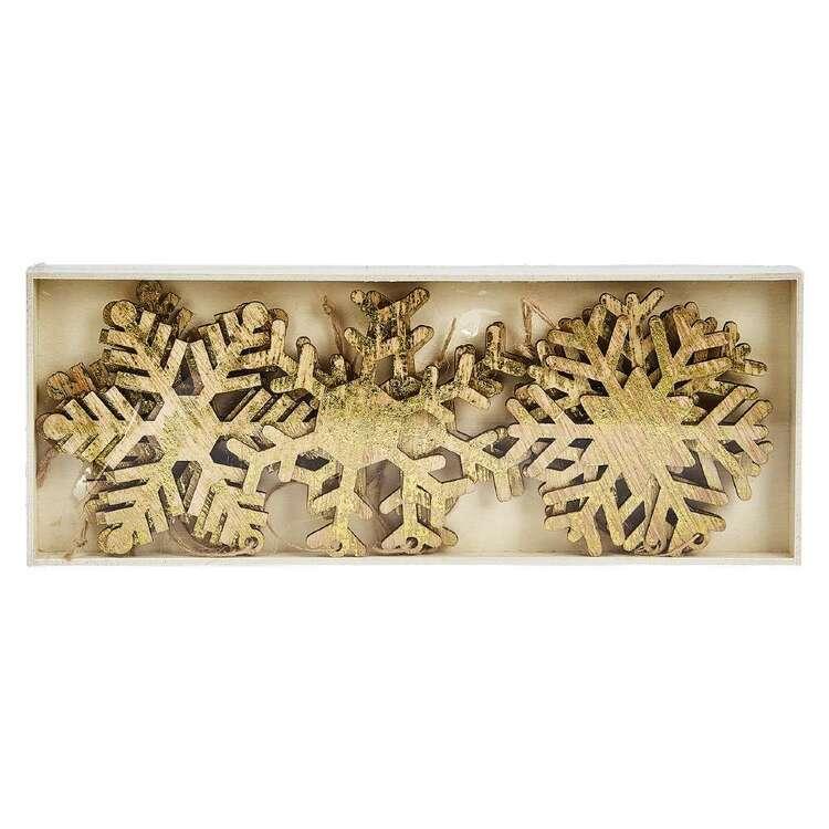 Bouclair Holiday Nostalgia Set Of 9 Snowflake Ornament