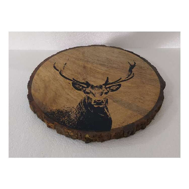 Bouclair Nordic Tradition Deer Serving Plate Natural 30 cm