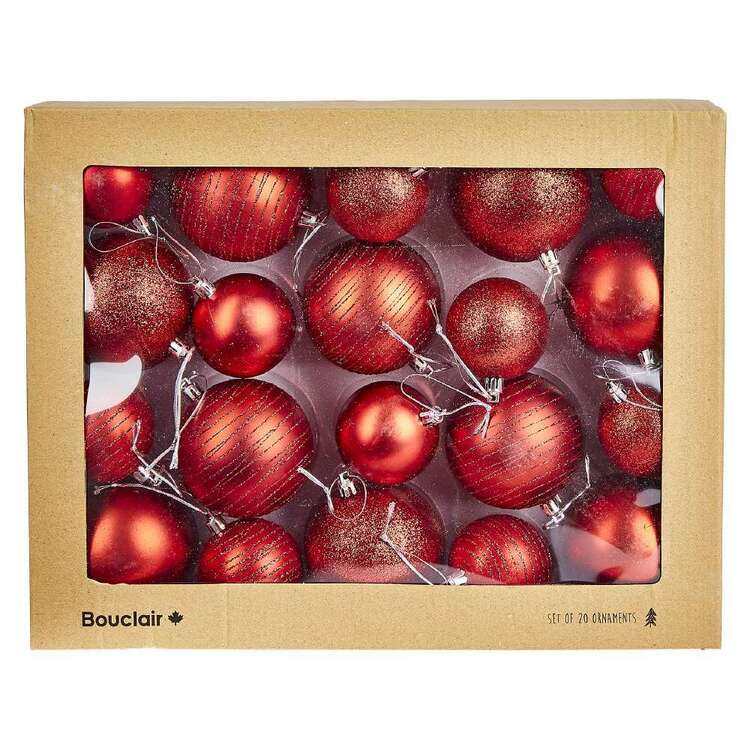 Bouclair Nordic Tradition Set Of 20 Baubles