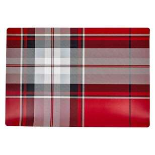 Bouclair Nordic Tradition Set Of 4 Plaid Placemat