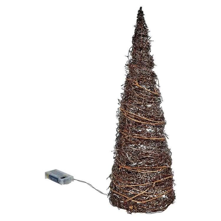 Bouclair Holiday Nostalgia Rattan LED Tree