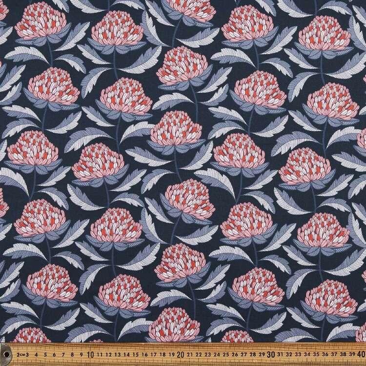 Jocelyn Proust Waratah Dance Printed Montreaux Drill Fabric