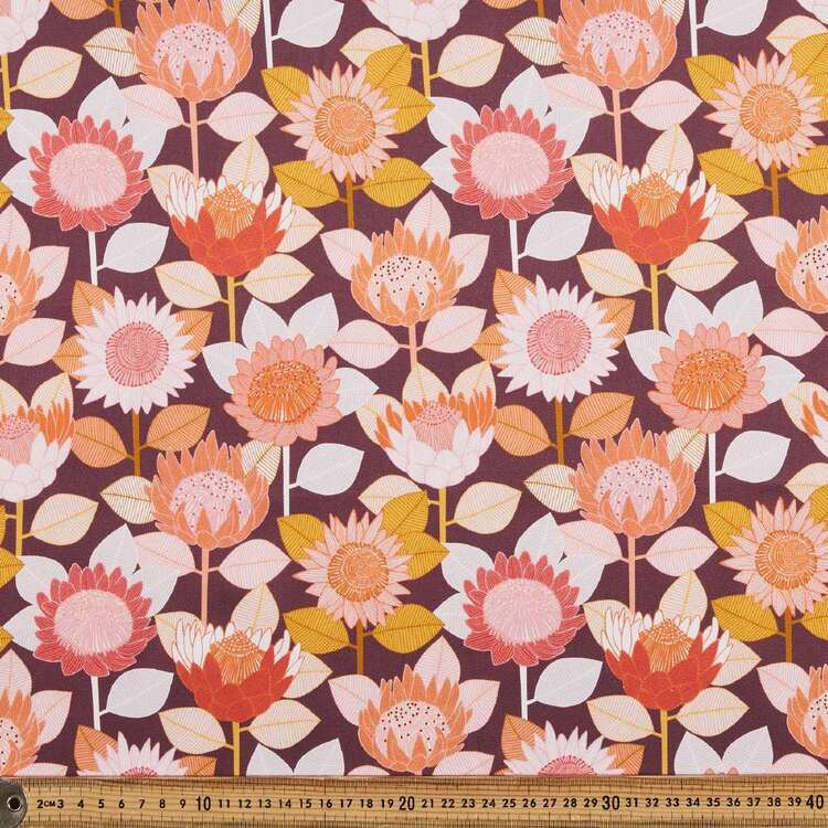Jocelyn Proust King Protea Printed Montreaux Drill Fabric