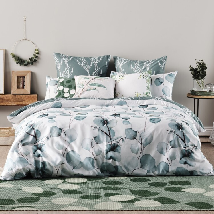 Ombre Home Country Living Leaf Quilt Cover Set