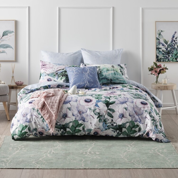 Ombre Home Classic Chic Floral Quilt Cover Set Multicoloured