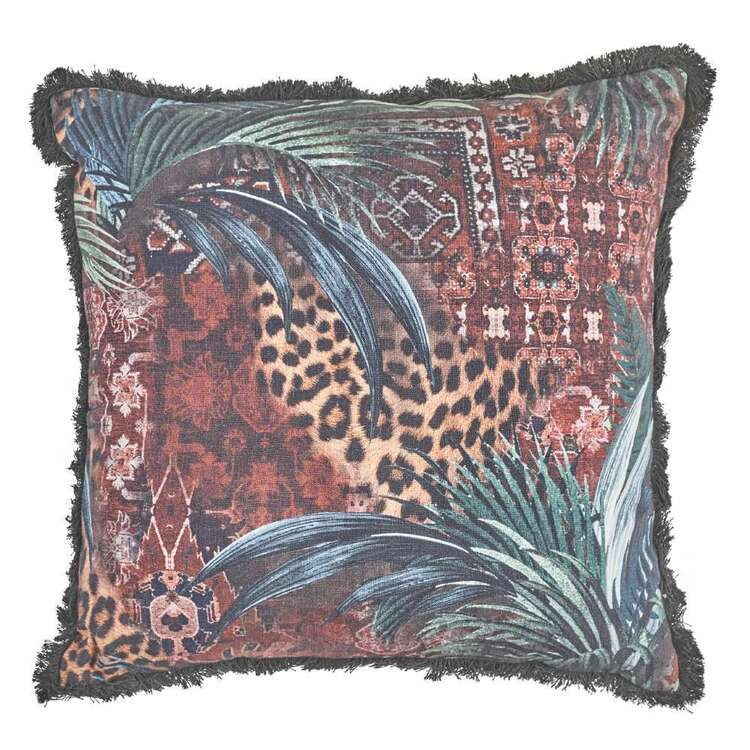 Logan And Mason Home Ogle Printed Textured Cushion Multicoloured 50 x 50 cm