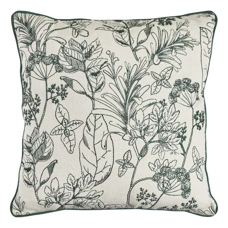 Logan And Mason Home Flora Embroidered Textured Cushion