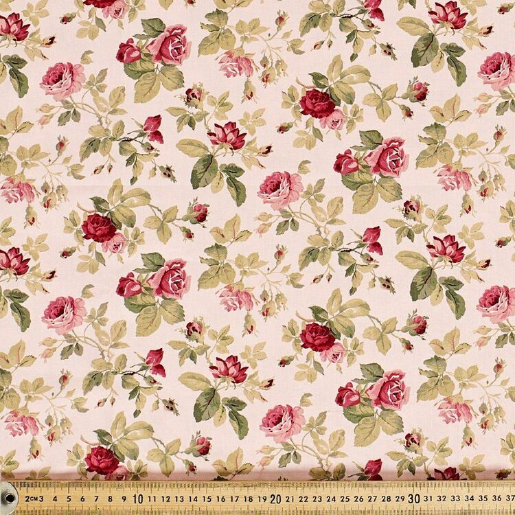 Anastasia Small All Over Roses Cotton Fabric