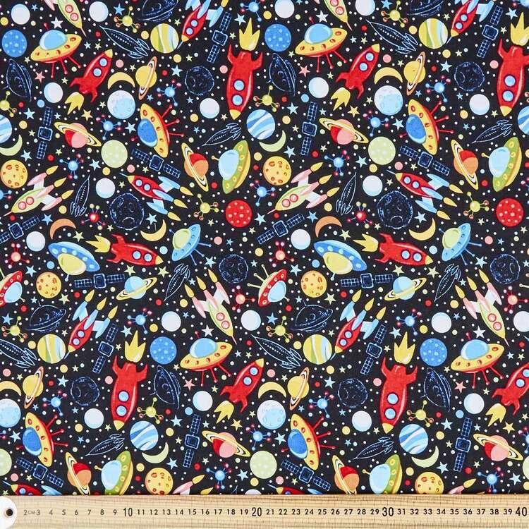 Retro Planets Cotton Fabric