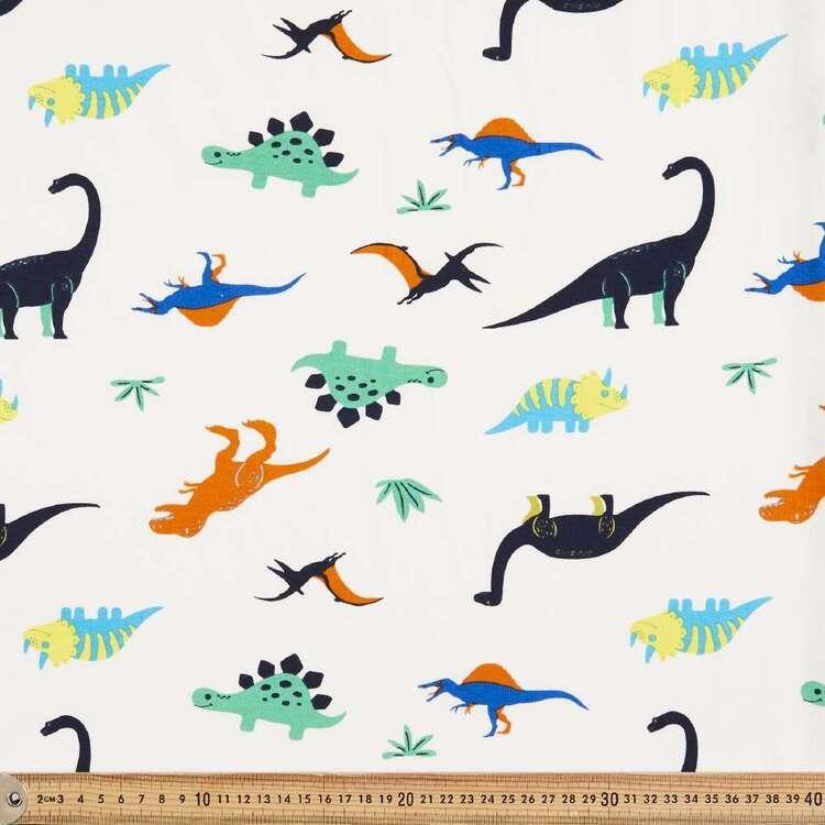 Dino Printed 148 cm Cotton Spandex Jersey Fabric