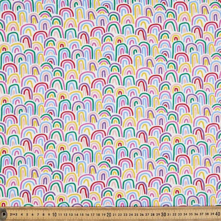 Rainbow Printed 148 cm Cotton Spandex Jersey Fabric