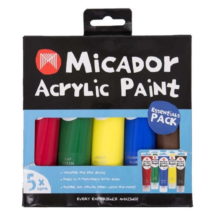 Micador Acrylic Paint 5 Pack