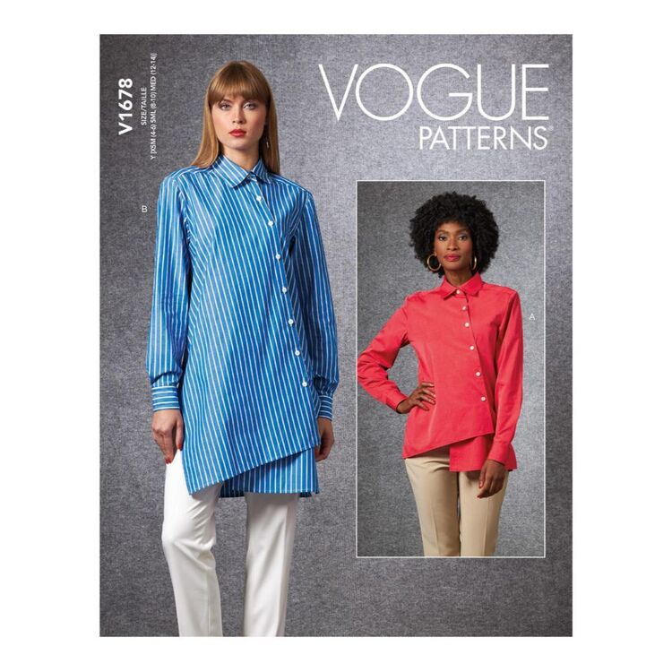 Vogue Pattern V1678 Misses' Shirt