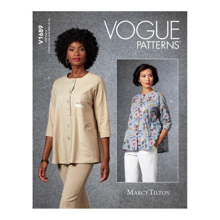 Vogue Pattern V1689 Misses' Jacket by Marcy Tilton