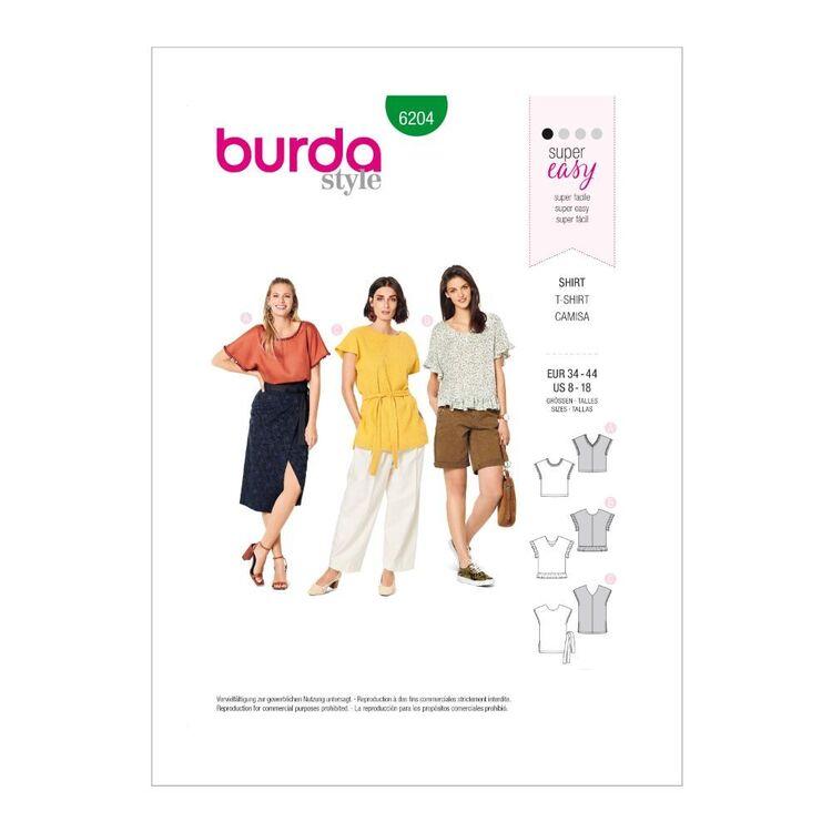 Burda Pattern 6204 Misses' Pull-On Tops
