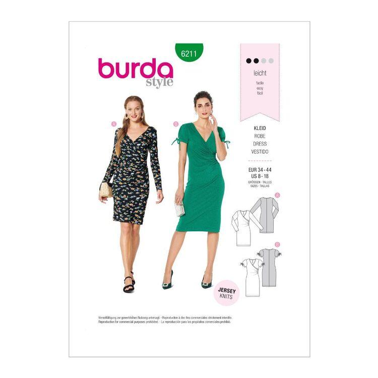 Burda Pattern 6211 Misses' Mock-Wrap Dresses