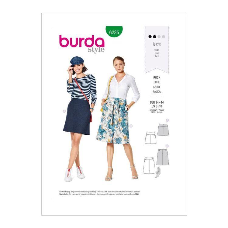 Burda Pattern 6235 Misses' Skirt In Two Lengths