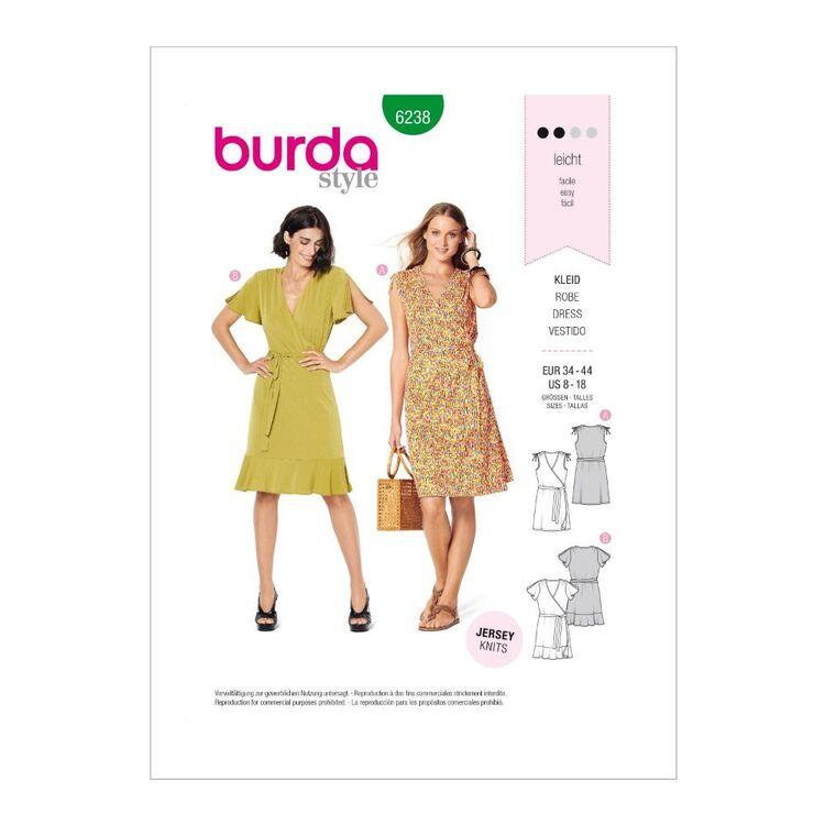 Burda Pattern 6238 Misses' Wrap Dresses