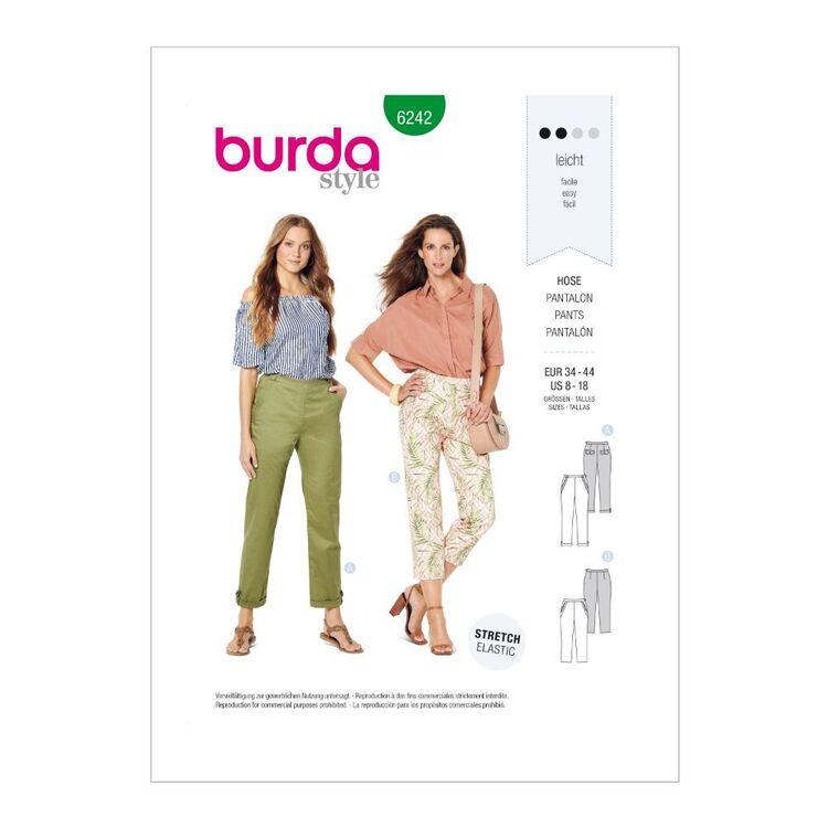 Burda Pattern 6242 Misses' Pants