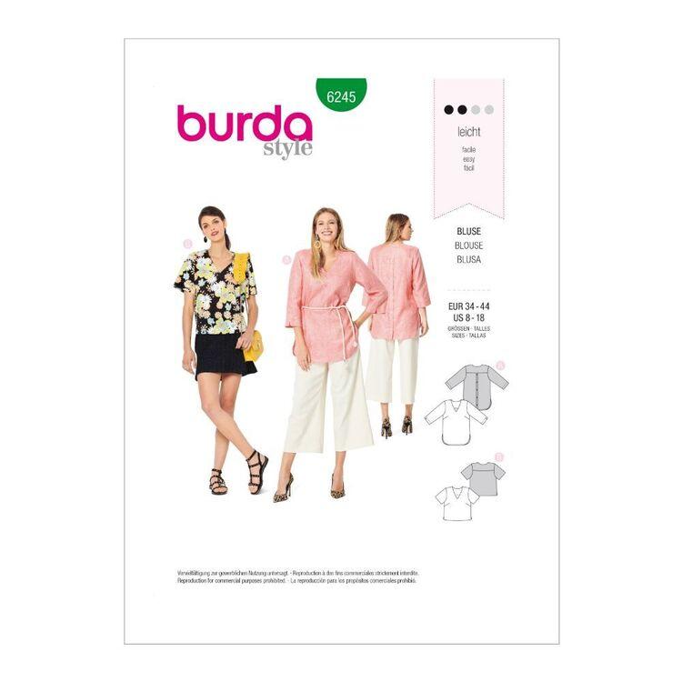 Burda Pattern 6245 Misses' Loose-Fitting Tops