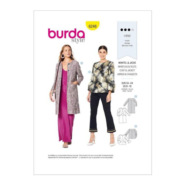 Burda Pattern 6248 Misses' Lined Coat Or Jacket