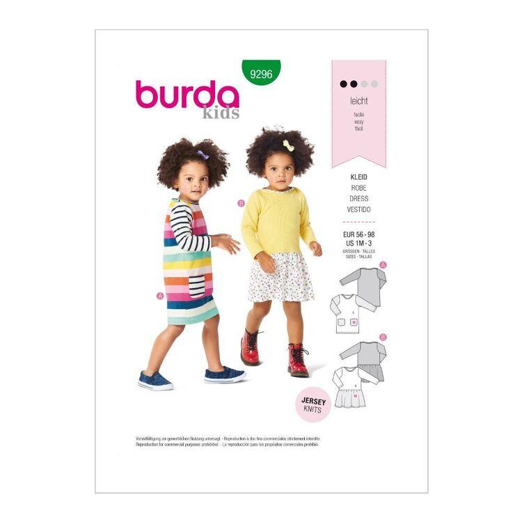 Burda Pattern 9296 Babies' Pull-On Dresses