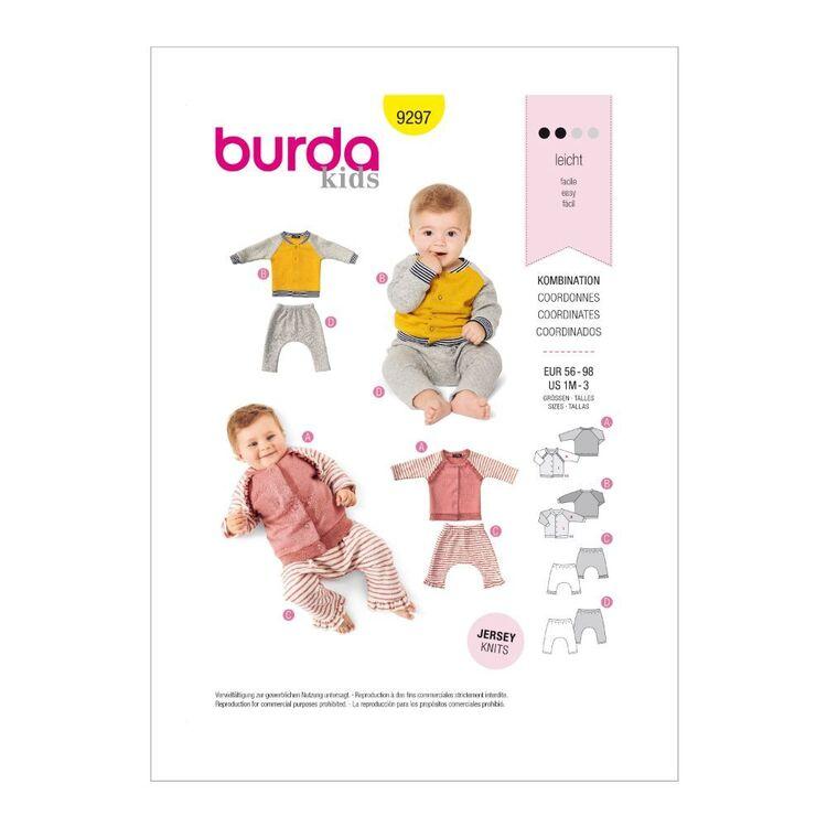Burda Pattern 9297 Babies' Casual Jackets & Bottoms