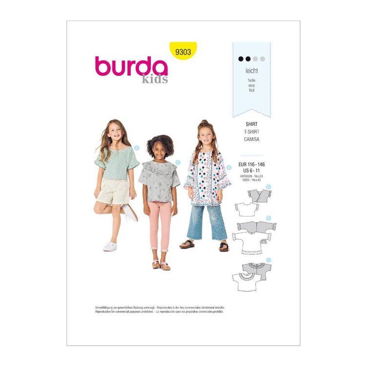 Burda Pattern 9303 Children's Tops