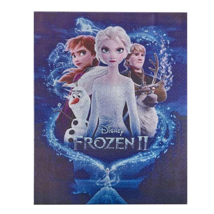 Tag Frozen Metallic Canvas Print