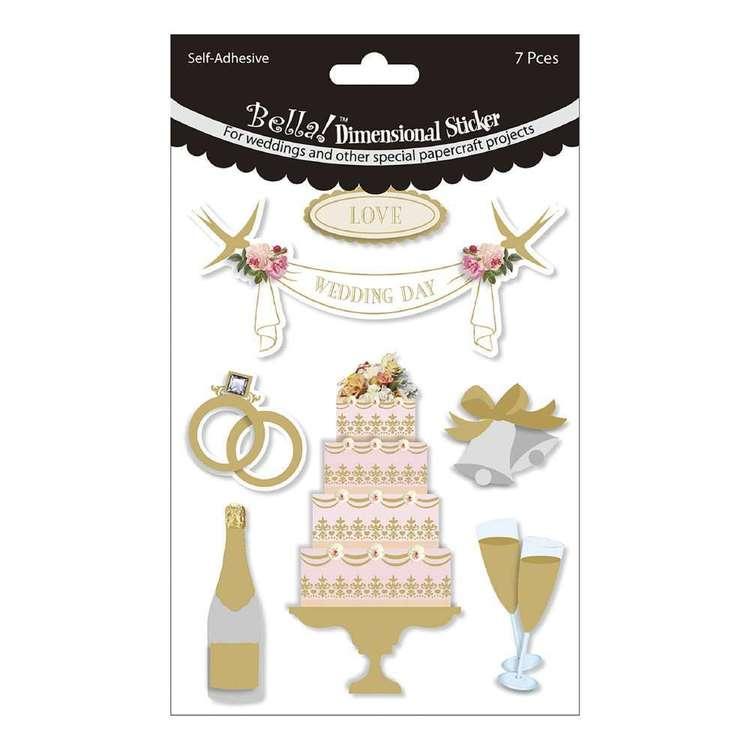 Bella! 3D Wedding Stickers 7 Pack