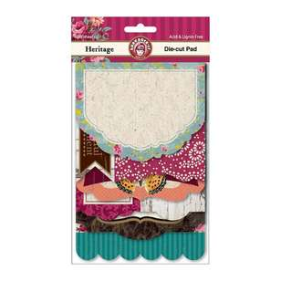 Ruby Rock-It Heritage Die-Cut Pad 18 Sheets