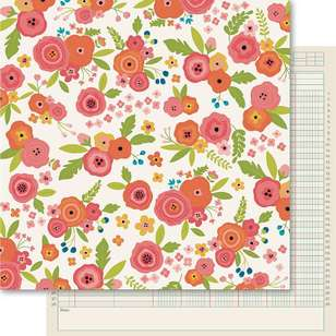 Ruby Rock-It Happy Days Bouquet Printed Paper