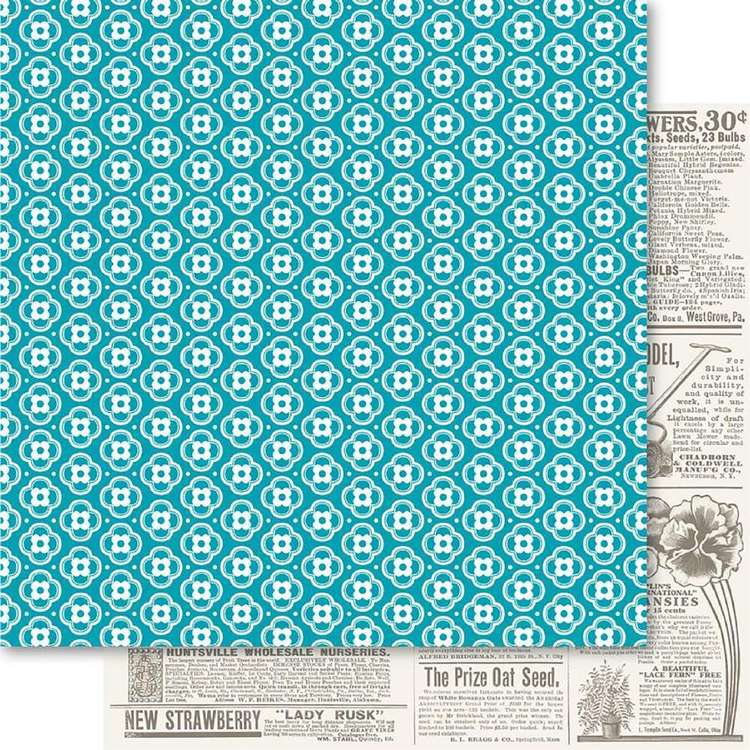 Ruby Rock-It Happy Days Floral Printed Paper