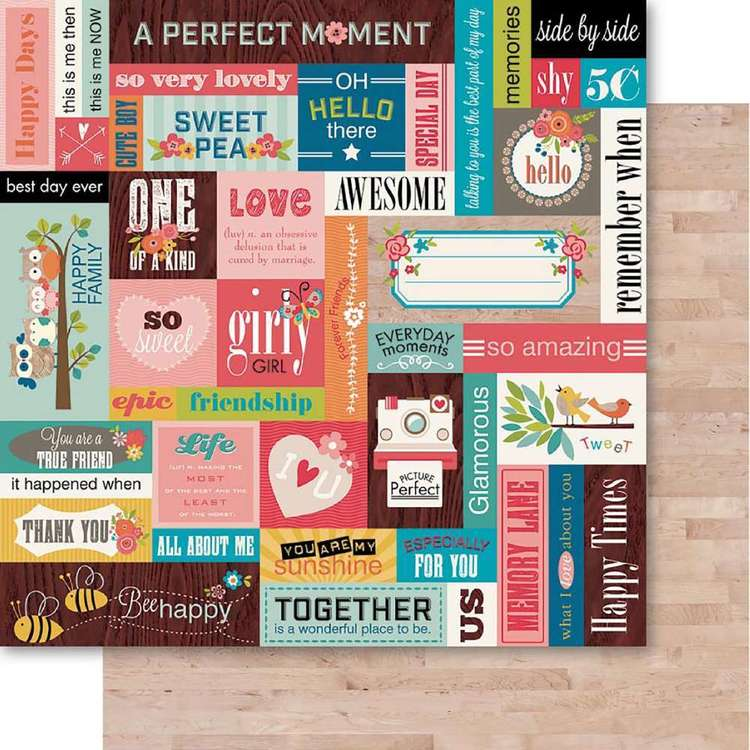 Ruby Rock It Happy Days Chit Chat Printed Paper Sheet
