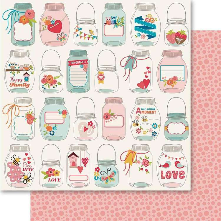 Ruby Rock-It Happy Days Captured Moments Printed Paper