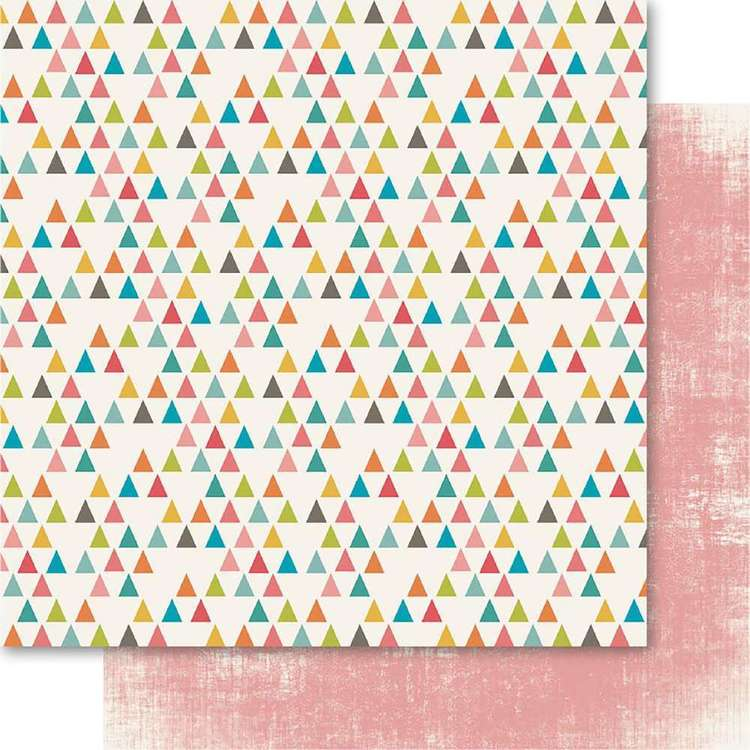 Ruby Rock-It Happy Days Bunting Printed Paper