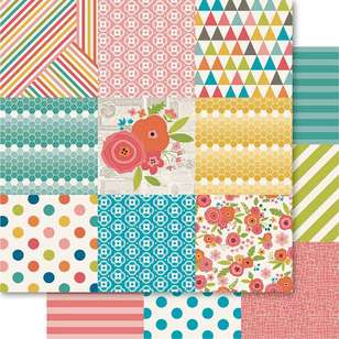 Ruby Rock-It Happy Days Patchwork Printed Paper