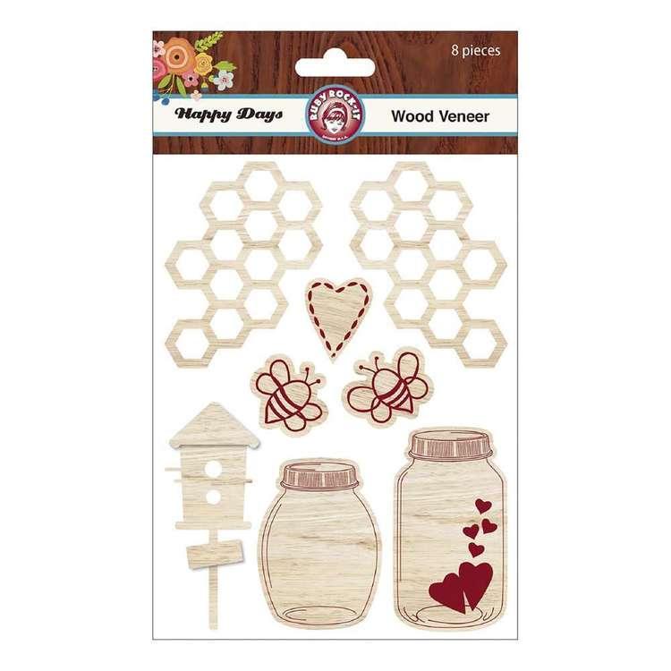 Ruby Rock-It Happy Days Wood Veneer Stickers