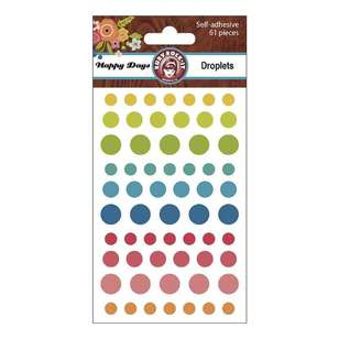 Ruby Rock-It Happy Days Droplets Stickers